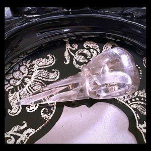 Jewelry - Smokey Quartz Crystal- Carved Raven Skull P…